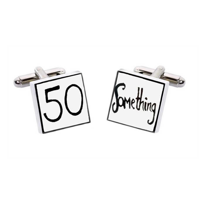 Square 50 Something Cufflinks