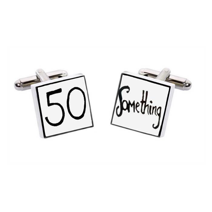Square 50 Something Cufflinks