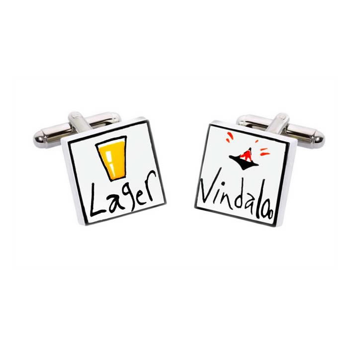 Lager And Vindaloo Cufflinks