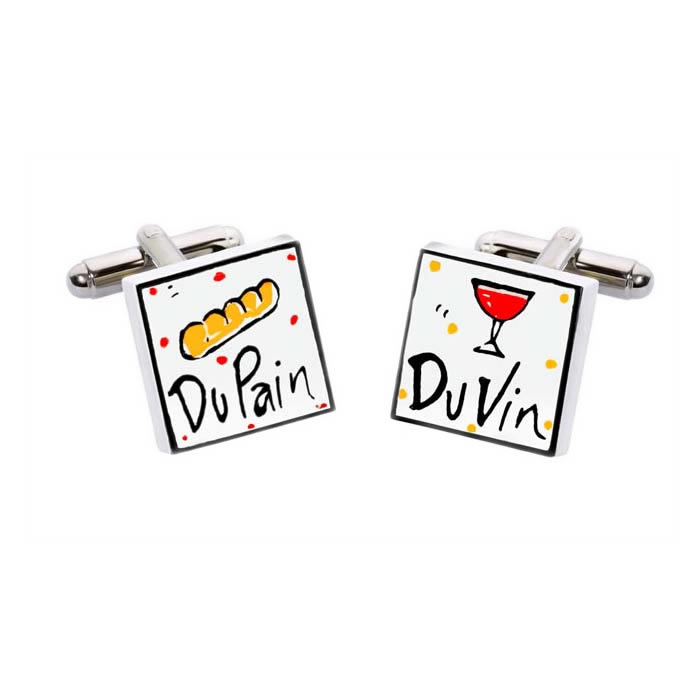 Du Vin And Du Pain Cufflinks