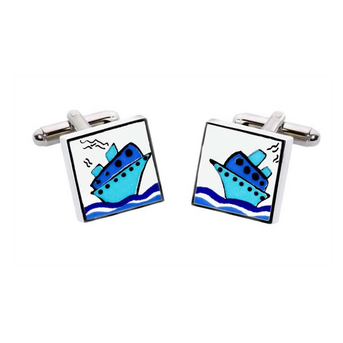 Ship Square Cufflinks