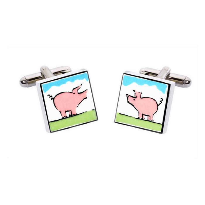 Pig Square Cufflinks