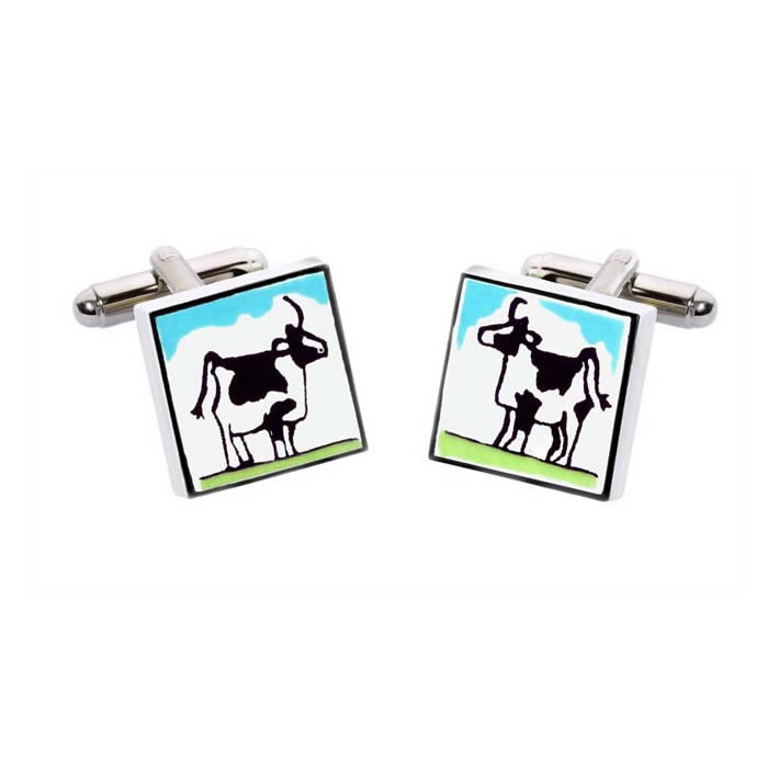 Square Cow Cufflinks