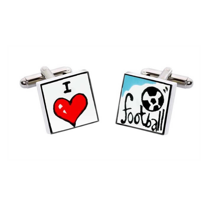 I Love Football Cufflinks