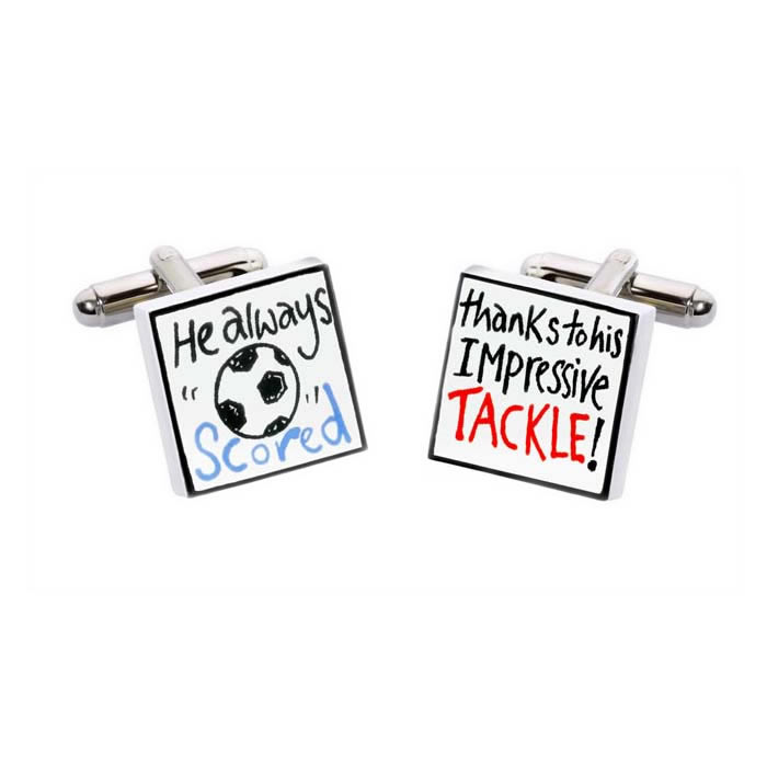 Thanks To His Tackle Cufflinks