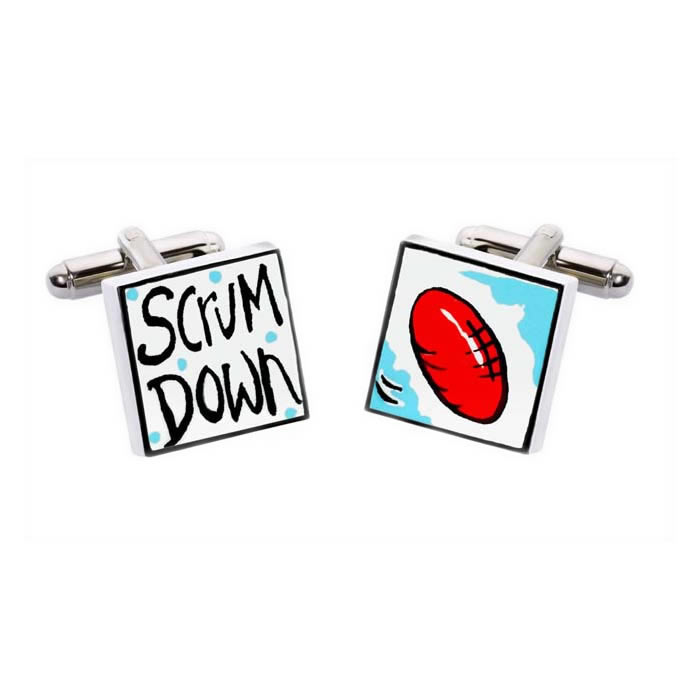 Scrum Down Cufflinks