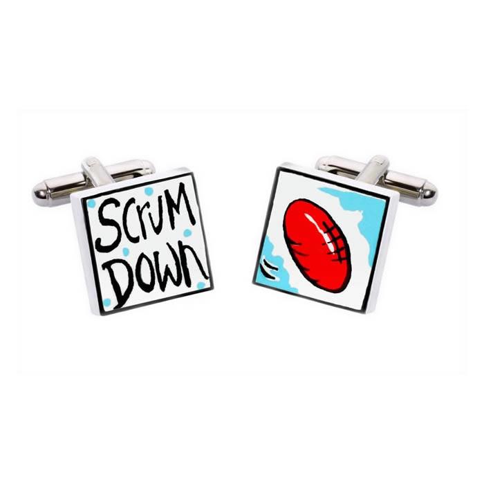 Scrum Down Cufflinks