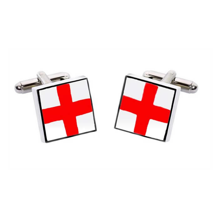 St Georges Cross Square Cufflinks