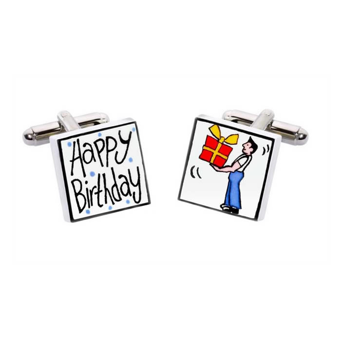 Happy Birthday Man Cufflinks