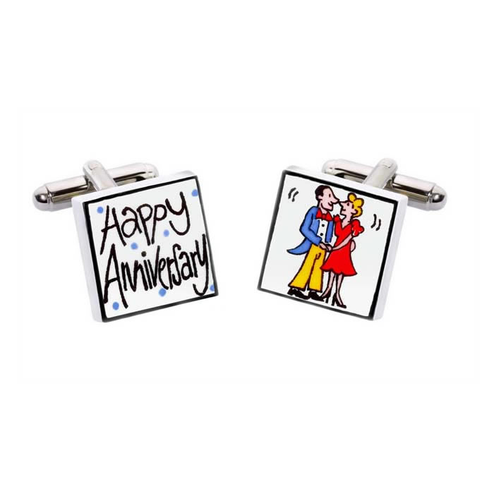 Happy Anniversary Cufflinks