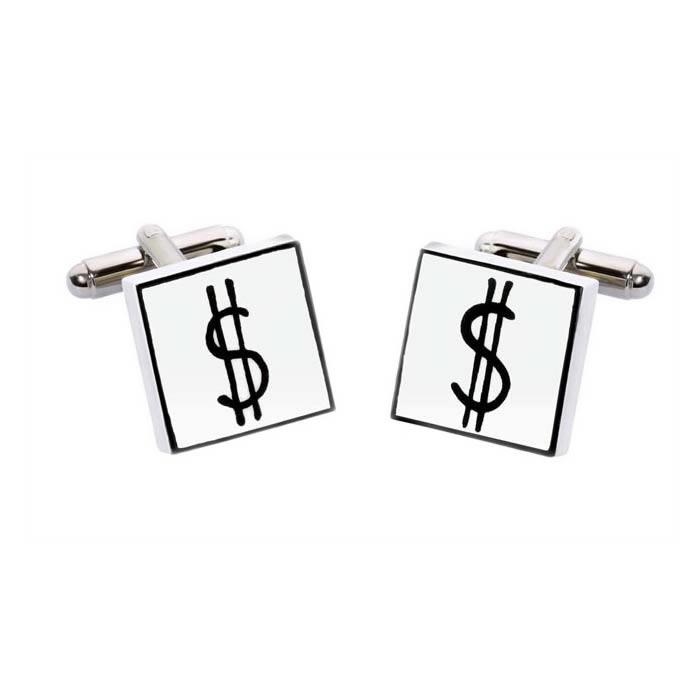 Square Dollar Sign Cufflinks