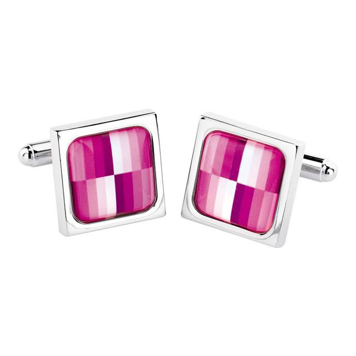 Plum Test Card Cufflinks