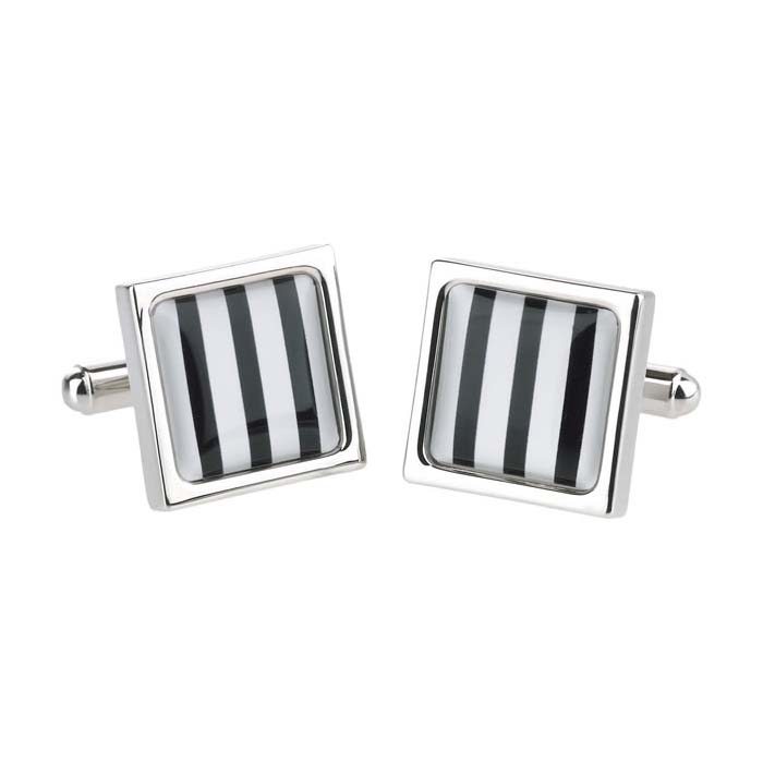 Bold Stripe Square Cufflinks