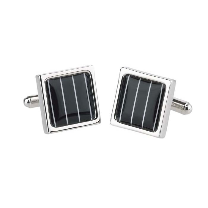 Thin Stripe Square Cufflinks