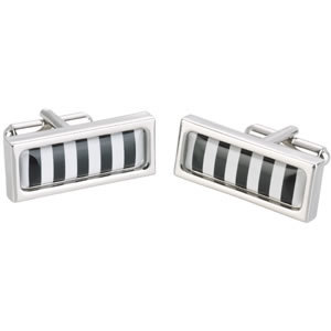 Bold Stripe Long Cufflinks