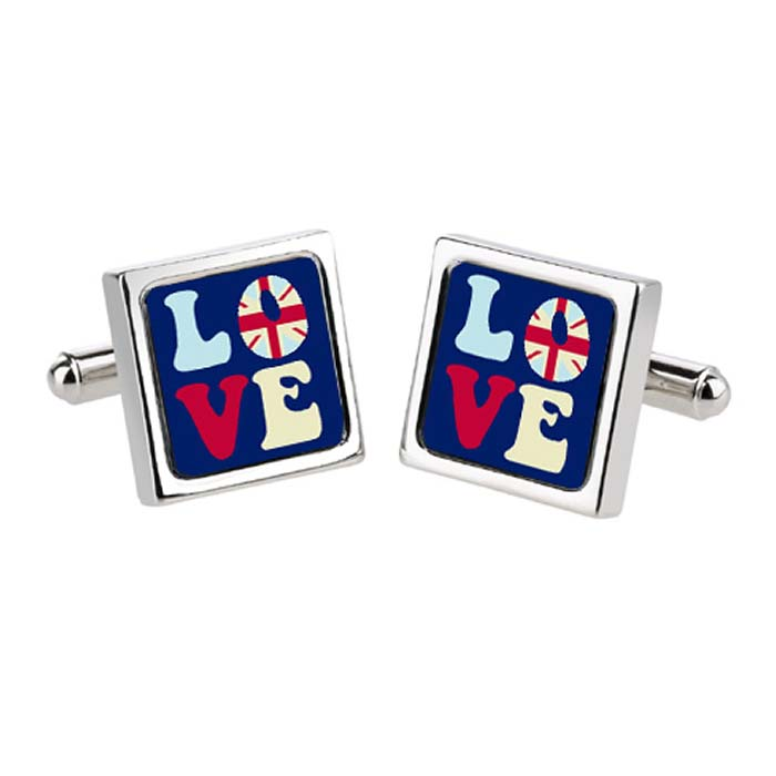 Navy Love UK Cufflinks