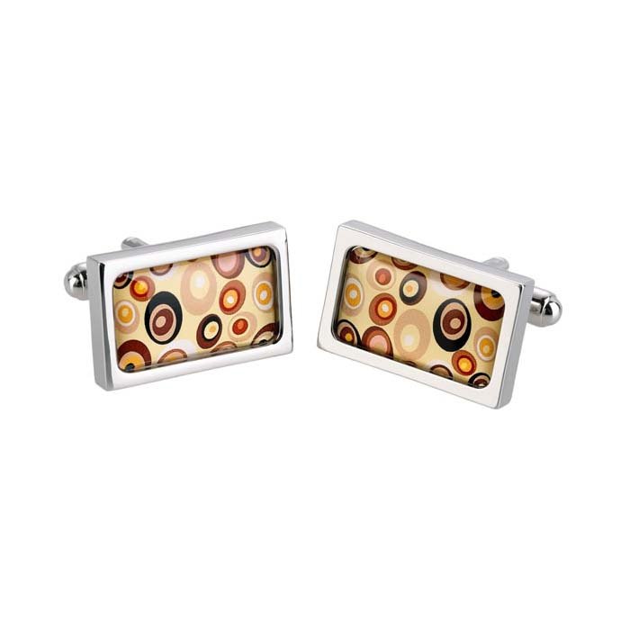 Tan Swirl Cufflinks