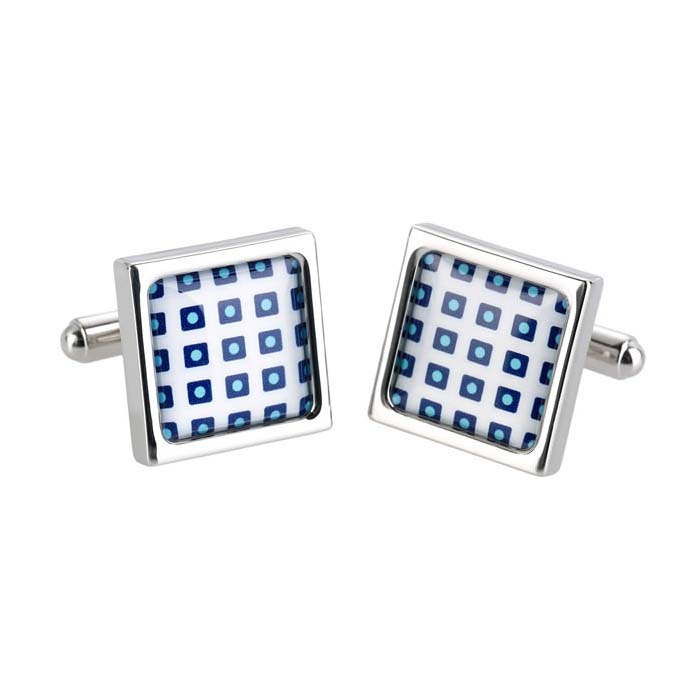 Blue Cube Cufflinks