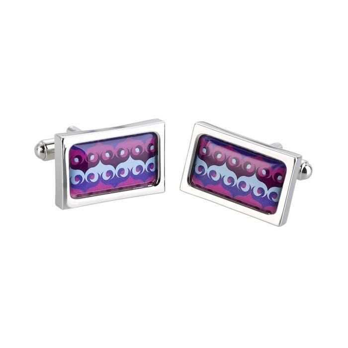 Purple Maroc Cufflinks