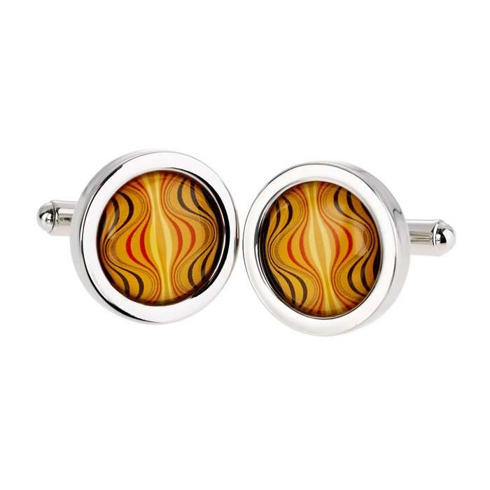 Orange Hourglass Cufflinks