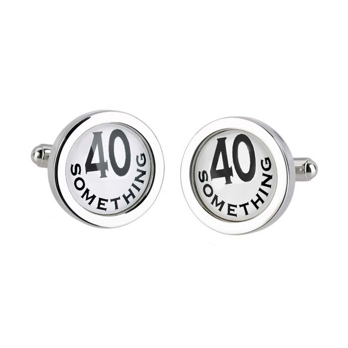 Circular 40 Something Cufflinks