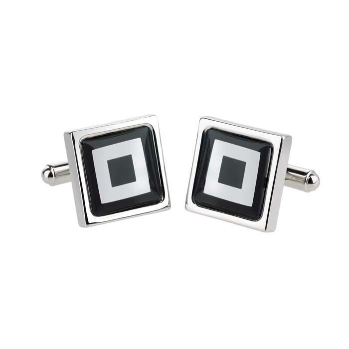 Black Squares Cufflinks