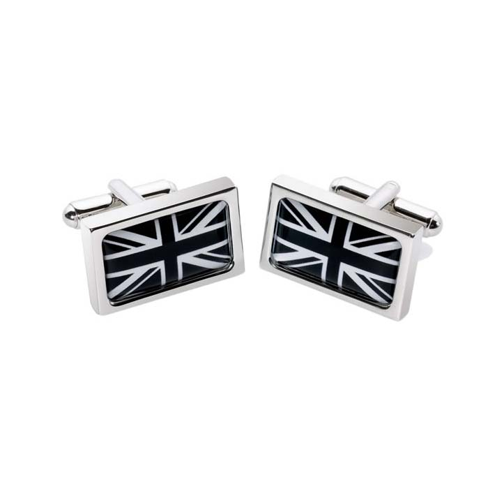 Black And White Union Jack Cufflinks