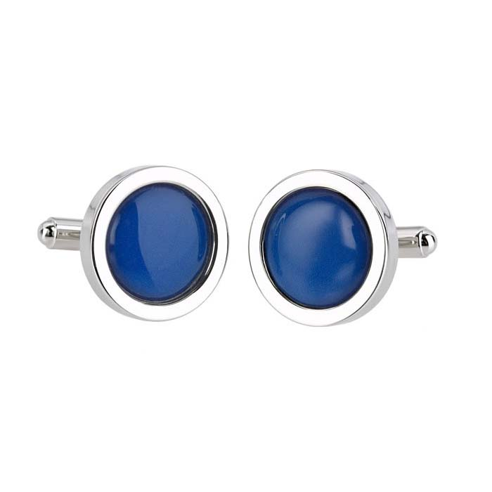 Dark Blue Pure Colour Cufflinks