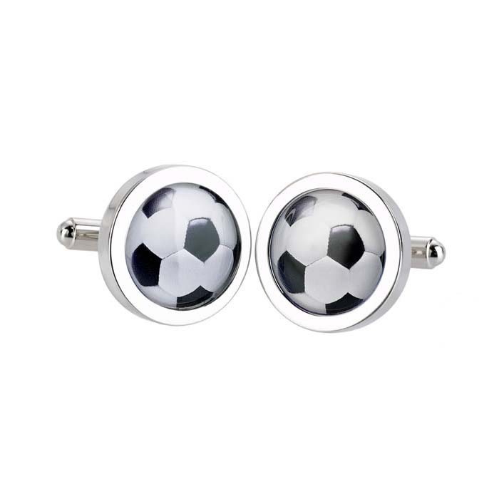Football Bordered Cufflinks