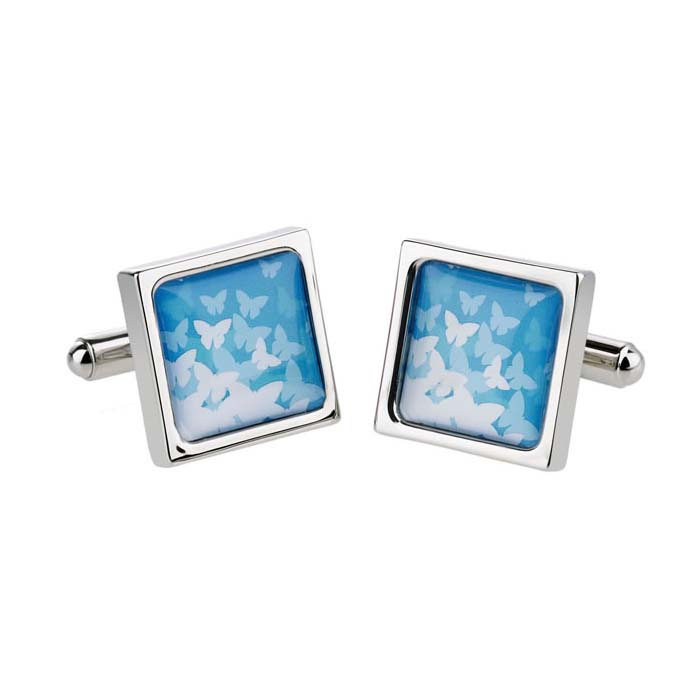 Butterflies Blue Cufflinks