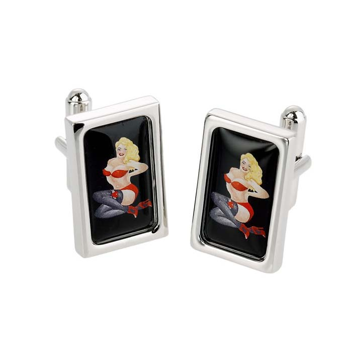 Blonde Babe Cufflinks