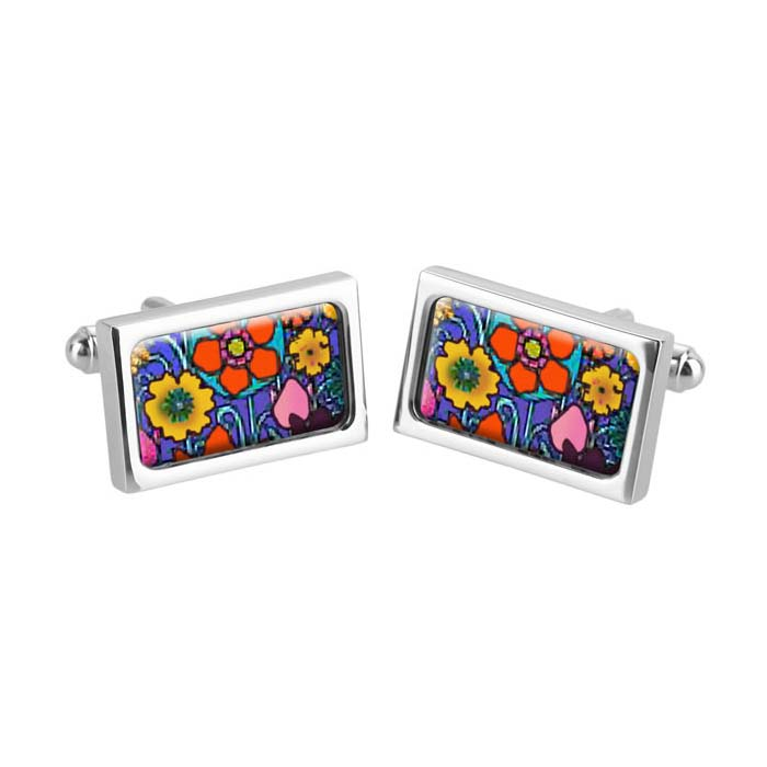 High Summer Flower Cufflinks