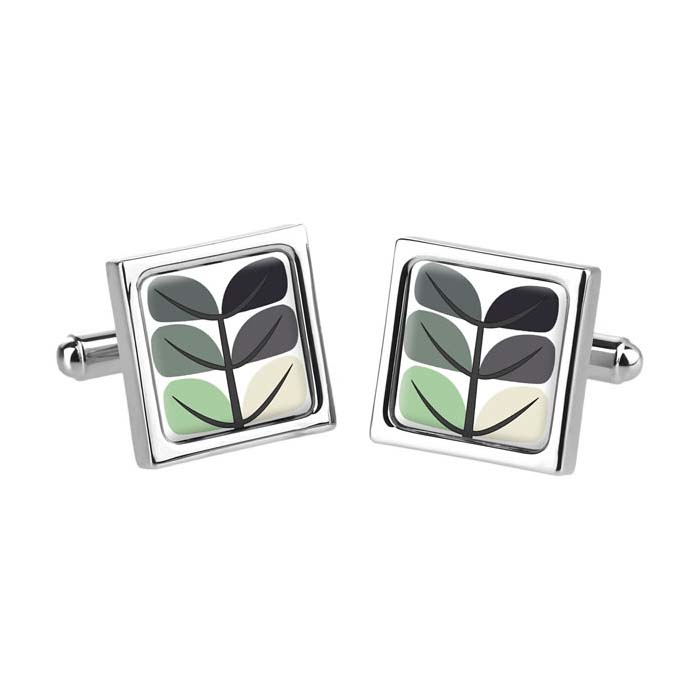Pea Leaf Grey Cufflinks