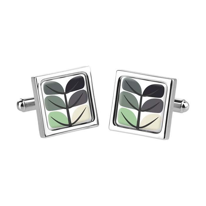 Pea Leaf Grey Cufflinks