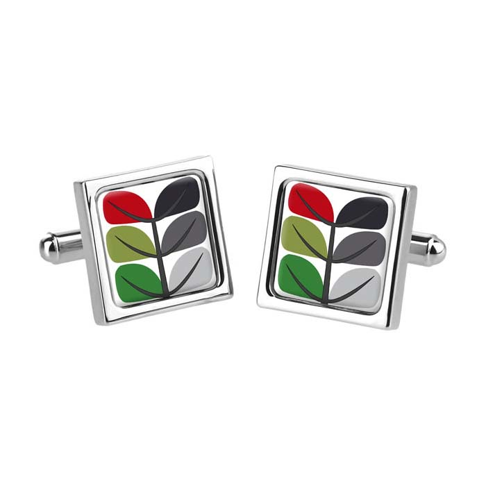 Pea Leaf Red Cufflinks
