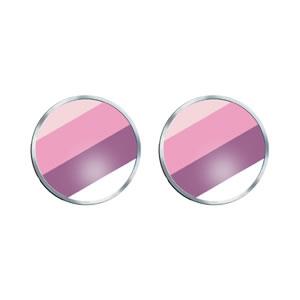 Pink Stripe Cufflinks