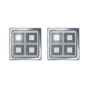 Grey Block Cufflinks