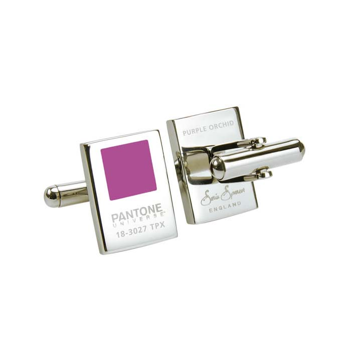 Purple Orchid Pantone Chip Cufflinks