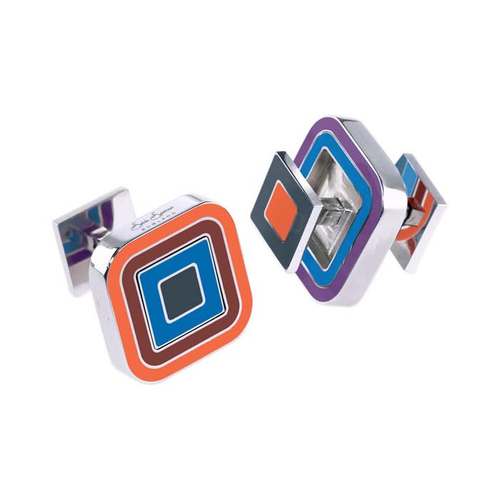 Fire Cracker Pantone Reversible Cufflinks