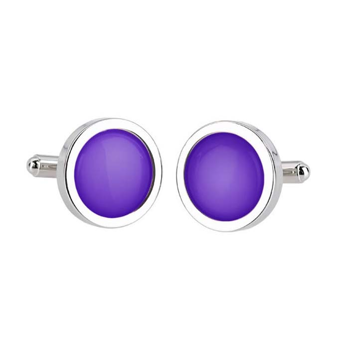 Pure Colour Violet Cufflinks