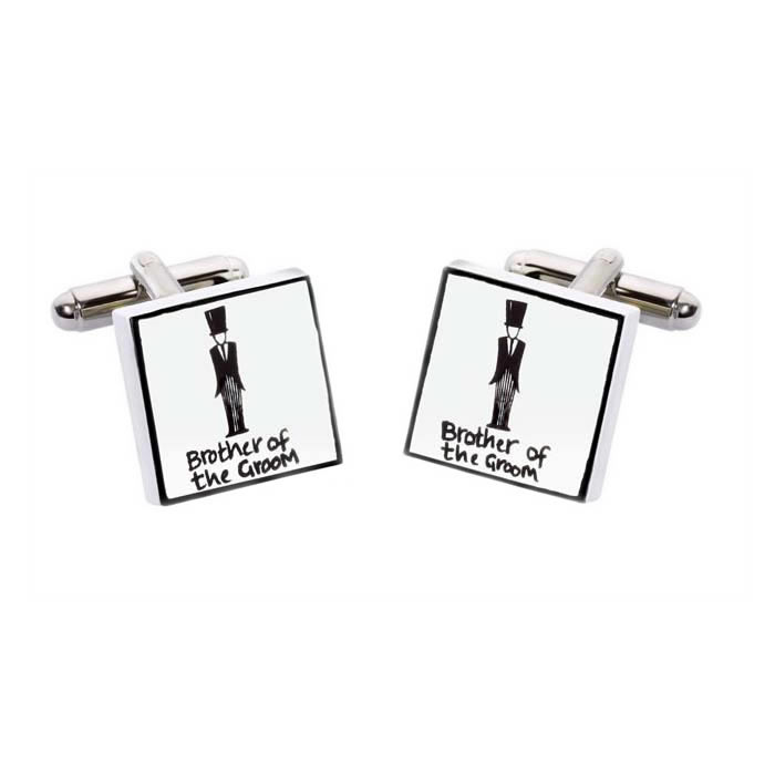 Brother Of The Groom Square Cufflinks
