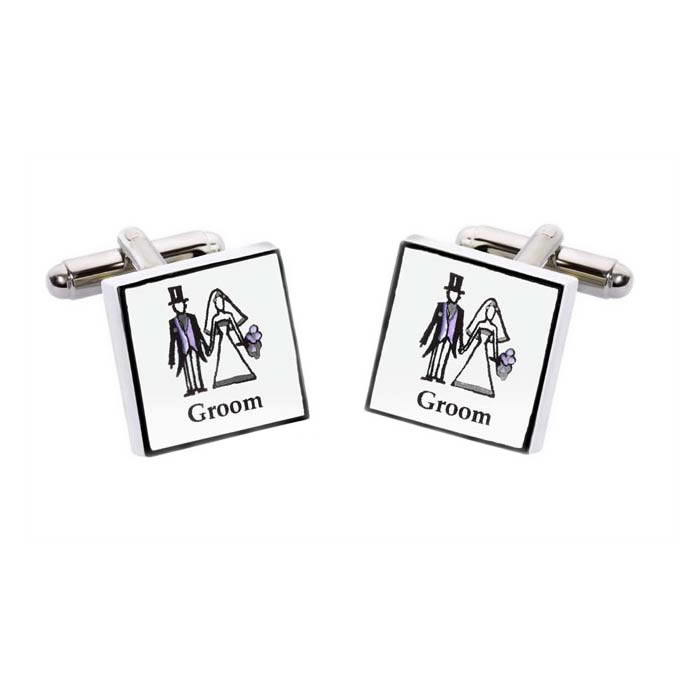 Groom Square Cufflinks