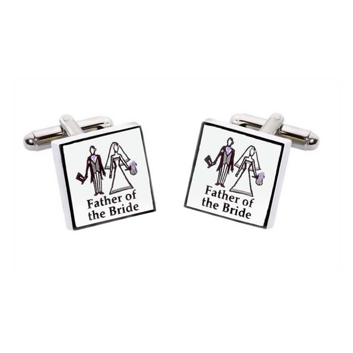Father Of The Bride Simple Cufflinks