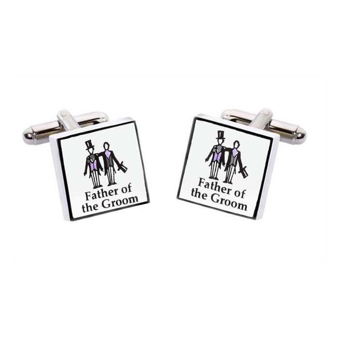 Father Of The Groom Square Cufflinks