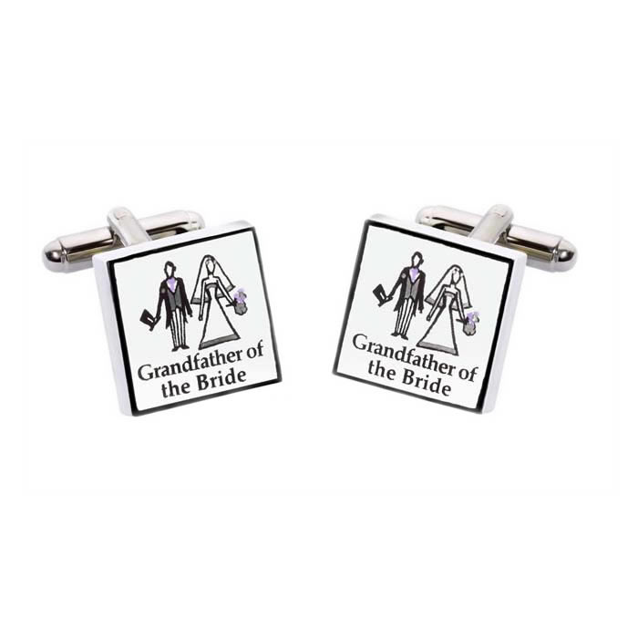 Grandfather Of The Bride Square Cufflinks