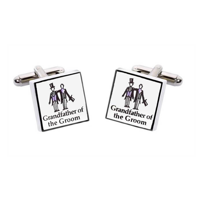 Grandfather Of The Groom Square Cufflinks