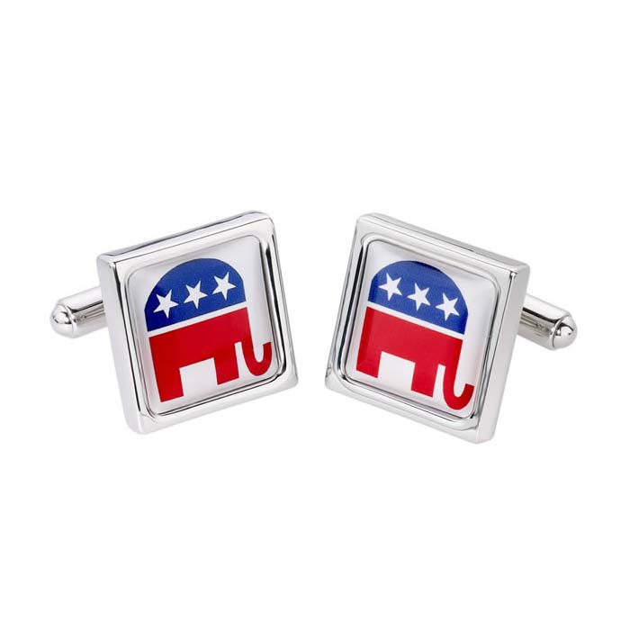 Square Elephant Cufflinks