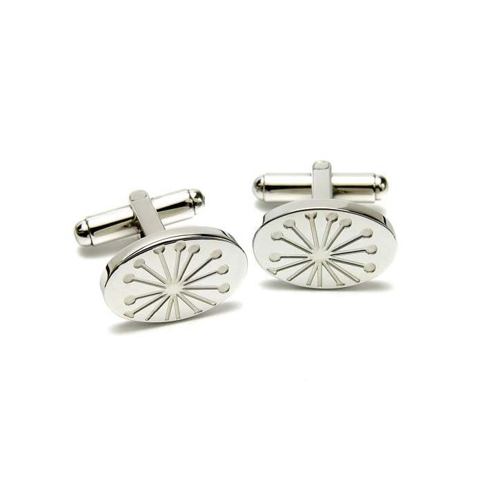 Starburst Etched Cufflinks