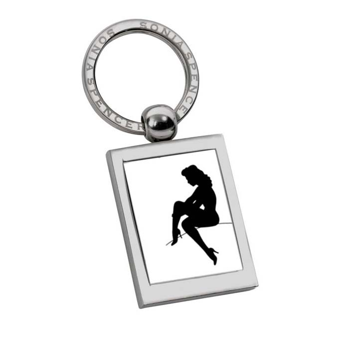 Stocking Lady Keyring