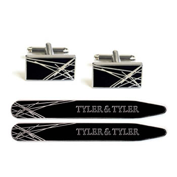 Tyler & Tyler Tyler and Tyler Diffusion Cufflinks - Black